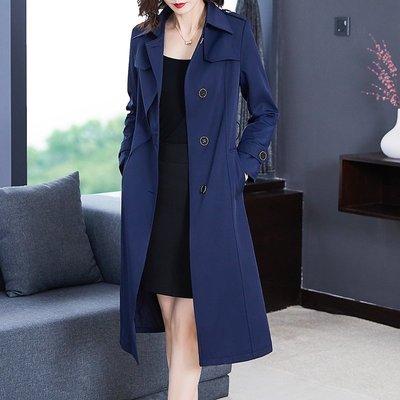 大唐夫人氣質女裝 外套秋冬裝小個子女裝品牌高端大氣質今年流行風衣垂感上衣中長款