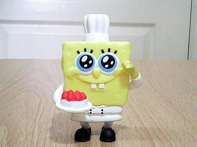 minia柑ㄚ店~絕版 二手麥當勞玩具(MCD-068)廚師海綿寶寶/Dessert Chef~