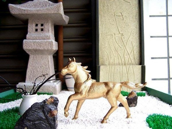 [ 高岡銅器-開運干支置物-午 馬 擺飾 ]-唐式禪風傳統鐵器 日本鑄鐵美術工藝-金駒(故障品),