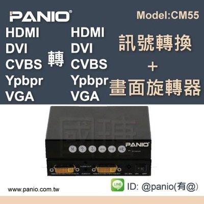 [多訊號轉換]HDMI/VGA/DVI/CVBS/YPBPR-多介面互相轉換器聲音分離《✤PANIO國瑭資訊》CM55