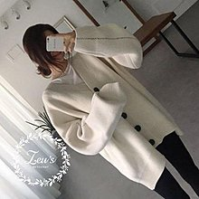 【ZEU'S】韓國秋冬新款寬鬆保暖針織外套『 08217503 』【現+預】HB