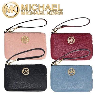 限時特價 Michael Kors 荔枝紋 MK零錢包 MK 小手拿包 L型拉鏈錢包 零錢袋 鑰匙包