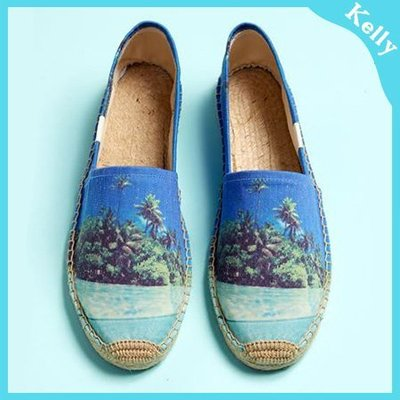 Kelly代購* Soludos【藍天海灘 Tropical 】休閒草編帆布鞋 Espadrilles