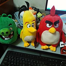 憤怒鳥玩偶一組3款