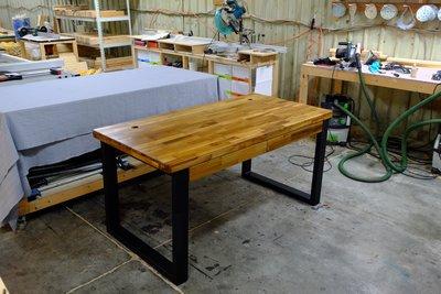 - 天然原木家具 -【水玉木作家具工坊】現代簡約  「維亦塔書桌」
