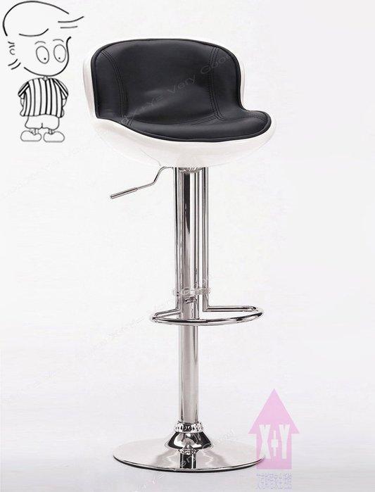 【X+Y時尚精品傢俱】現代吧檯椅系列-瓦特 吧台椅(白黑色)-玻璃纖維+電鍍合金腳.摩登家具