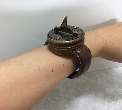 【友客里】((8日晷))- 古代時鐘-日圭-日臬-日規-北半球用-手錶造型