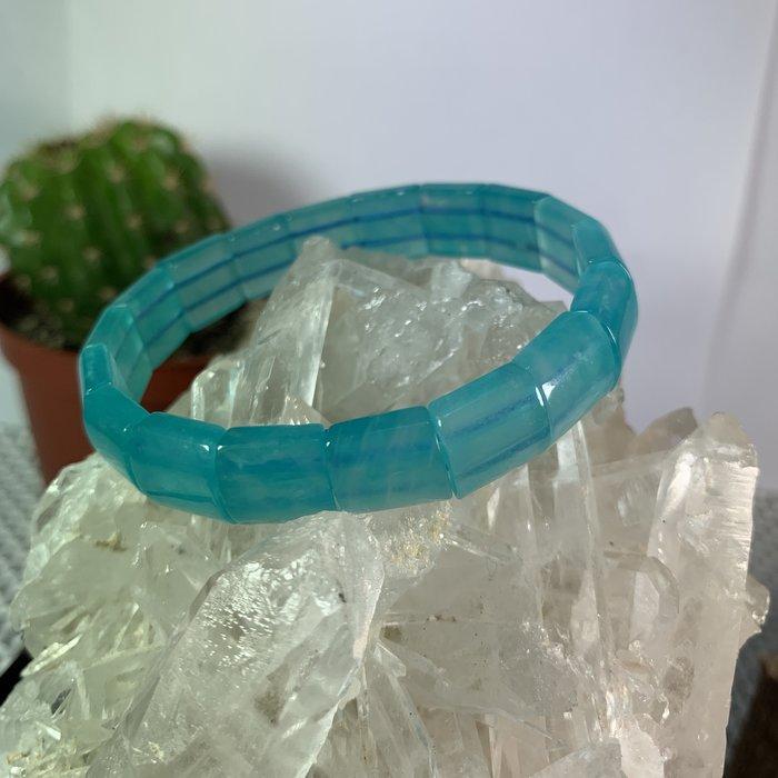 天然晶石【頂級天河石手排】頂級冰透.贈錦盒(淨重19.1g)~060211