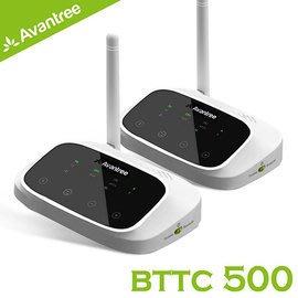 【風雅小舖】【Avantree 低延遲無線藍牙接收/發射器-支援數位光纖/類比音源(BTTC500)-遠距一對一無線組】