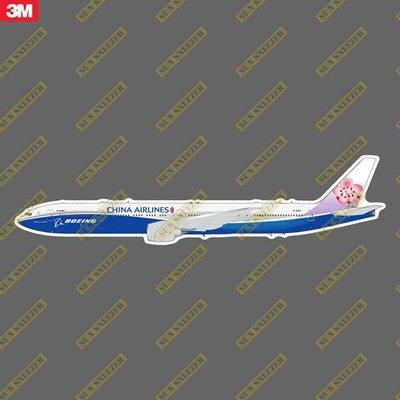 中華航空 China Airlines B777-300ER 藍鯨彩繪機 擬真民航機3M貼紙 防水防曬 尺寸165mm