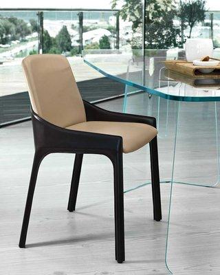 [米蘭諾家具]複刻FIAM CALLAS餐椅  書椅 扶手餐椅 商空 洽談椅 設計師經典款椅