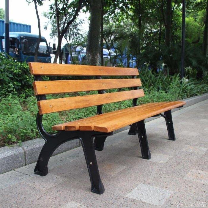 【瘋狂夏折扣】園林景區戶外公園休閒椅子實木廣場靠背椅休息等候椅長椅公園座椅