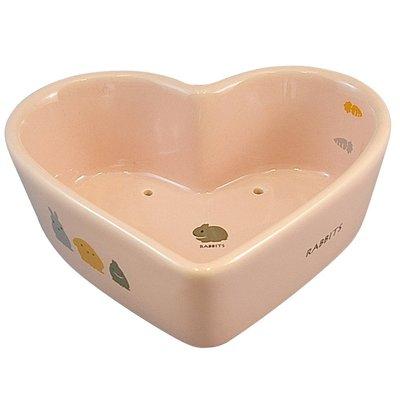 SNOW的家【訂購】日本Marukan 陶瓷透氣心形兔食碗 ES-14 (81870256