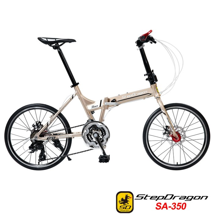 三叔的店 -【StepDragon】 SA-350 20吋451 日本Shimano24速指撥式定位變速 鋁合金碟煞折疊