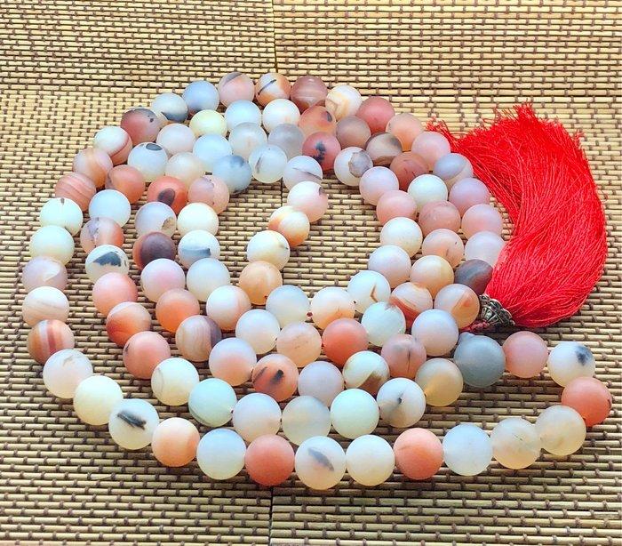 [馬克與安]108顆海洋玉髓佛珠-馬達加斯加海洋玉髓/108顆直徑20mm圓珠+1顆佛塔珠/重量:900g