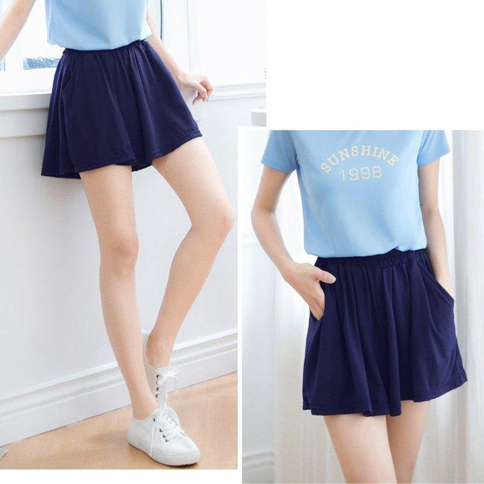 【Hao Da】全館399免運↘「M~XL。現貨」2色 彈力舒適 短褲裙 (P1270)