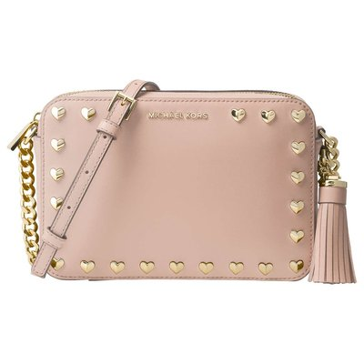 Coco小舖 Michael Kors Ginny Medium Camera Bag  粉紅色相機包