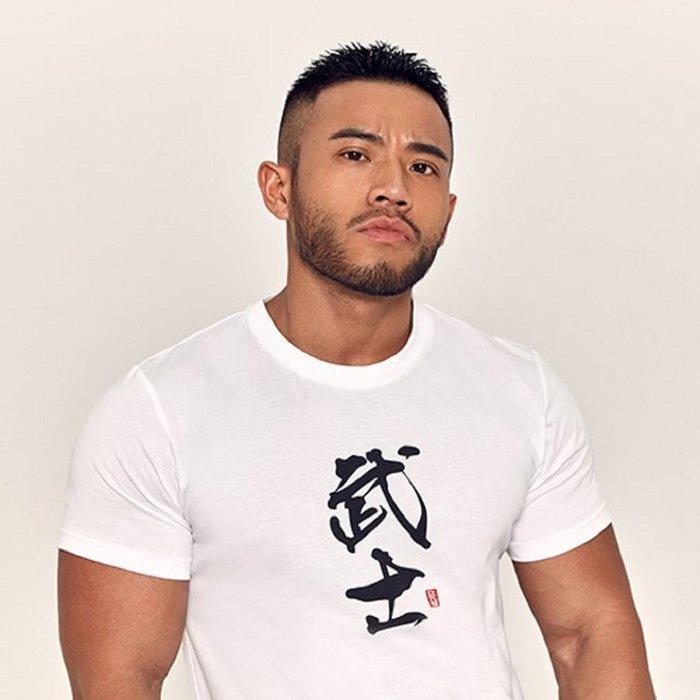 【OTOKO Men's Boutique】Hansbenny 武士/TEE/白色/正版(台灣獨家代理)