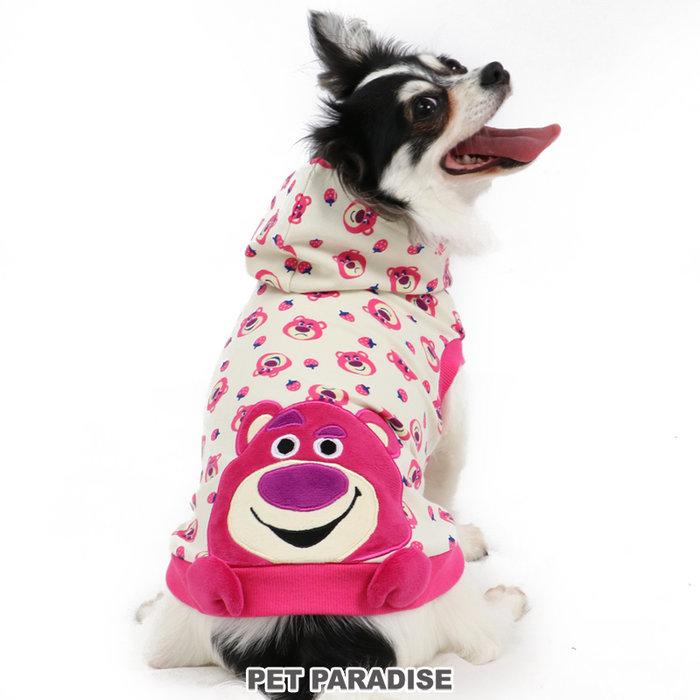 貝果貝果  日本 pet paradise 代理 DISNEY  草莓熊抱哥連帽衫 / 連帽上衣 [D13153]