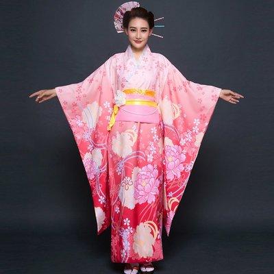高雄艾蜜莉戲劇服裝表演服*日本和服/動漫改良粉色櫻花女和服*購買價$1800元/出租價$500元