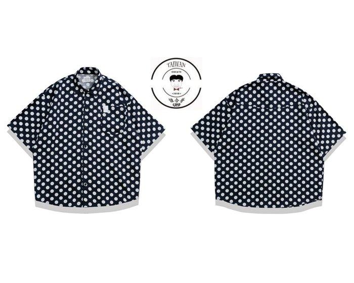 『誰合普UHF®』合作品 滿版波點 慵懶短袖襯衫 男女皆可。 (網路特賣價$850)起標價=直購價