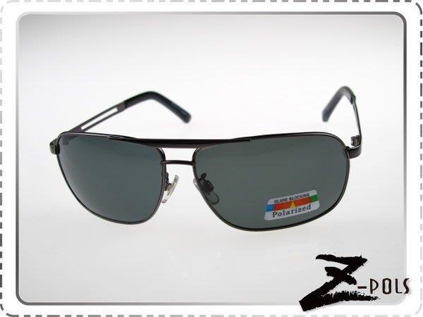 ☆Z-POLS專業代理新款偏光鏡☆金屬簍空名牌風格設計 復古寬版偏光眼鏡