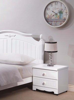 【宏興HOME BRISK 】瑪莎白色床頭櫃,XU新品20