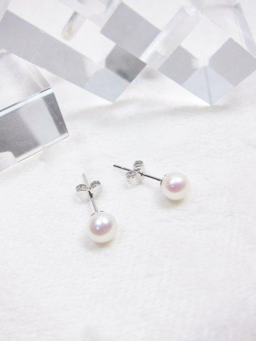4.5-5 mm珍珠耳環【元圓珠寶】