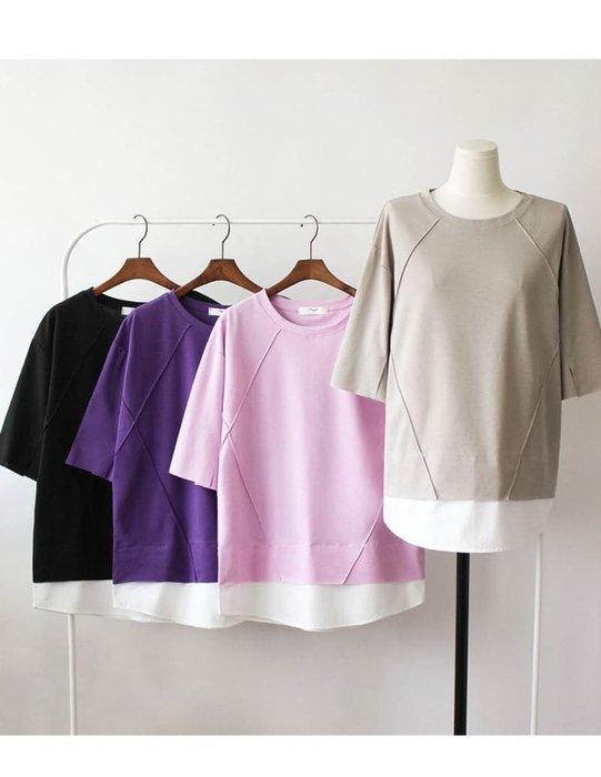 韓國🇰🇷東大門 假兩件 修身 顯瘦 設計款 上衣