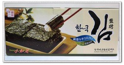Φ小知足ΦCOSTCO代購 韓國進口 韓國鹽烤海苔禮盒 海苔壽司 韓味不二海苔分享包 (5gx3包)x12條