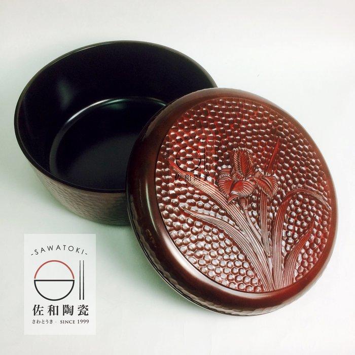 +佐和陶瓷餐具批發+【XL060222-2A水仙漆器飯桶-日本製】野餐 茶具收納 飯器 日式 精緻 餐廳家用