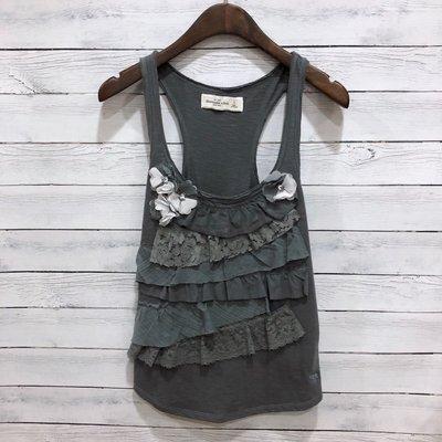 Maple麋鹿小舖 Abercrombie&Fitch * A&F 灰色蕾絲無袖上衣 * ( 現貨S號 )