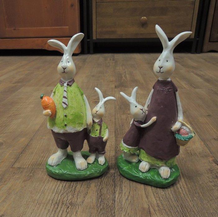 ~溫馨小舖 J&J Store~溫馨兔子家庭擺飾一對  全家福擺飾 兔子擺飾 溫馨可愛 宜家居 咖啡館 餐廳 民宿擺飾