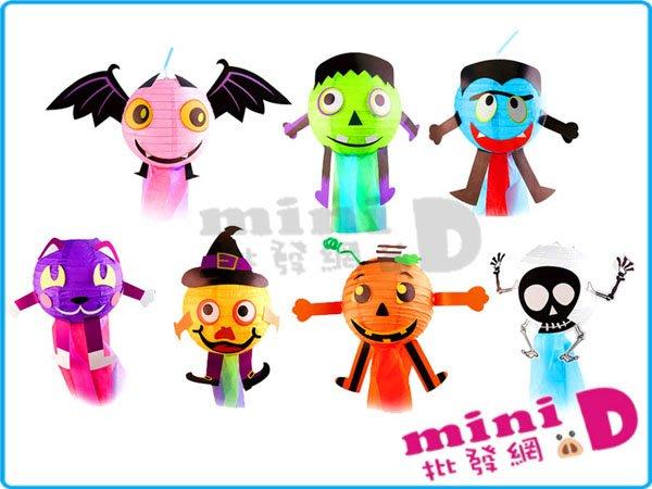 DIY萬聖節燈籠 DIY 萬聖節 燈籠 南瓜 蝙蝠  動手做 造型 禮物 玩具批發【miniD】[714380302]