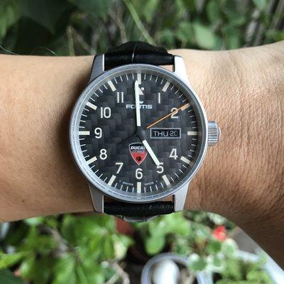 Fortis Flieger Ducati Limited 世界盃機車賽冠軍紀念限量腕錶