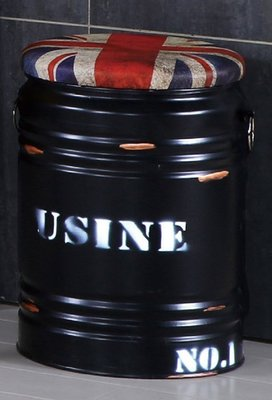 【DH】商品貨號N689-1商品名稱《約尼》英國黑水桶收納椅(圖一)座墊可掀開置物。主要地區免運費