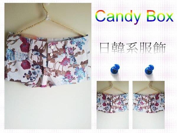 ☆Candy Box☆激瘦浪漫花朵短褲 白(S) W2622200