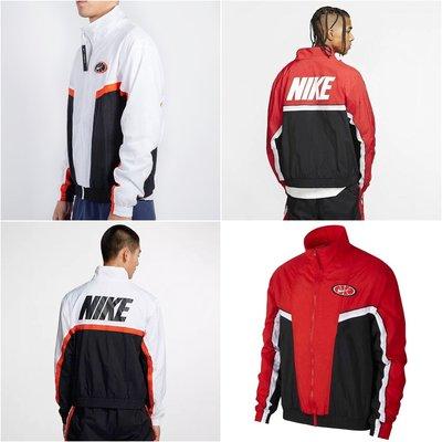 (貳柒商店) Nike Throwback 男 復古 立領 外套 黑白 AV9756-100 黑紅 AV9756-657