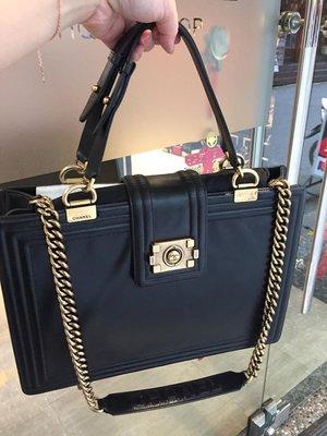 典精品名店 Chanel 真品 黑色 ...