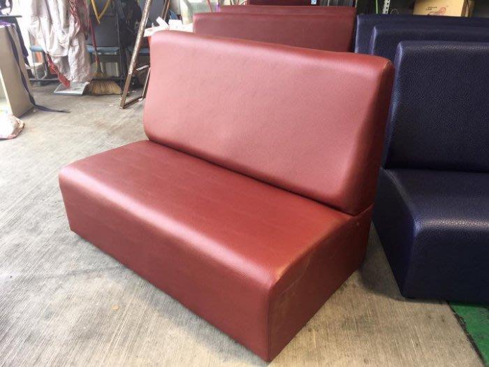 樂居二手家具 全新中古家具賣場 ZX328-1*全新紅色雙人乳膠皮沙發 KTV沙發 茶几 拍賣 電視櫃 茶几桌 泡茶桌椅