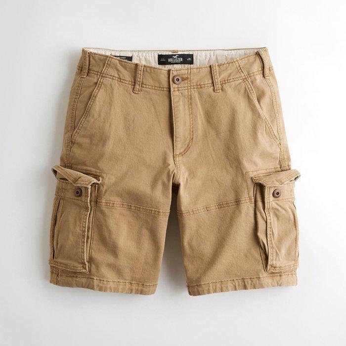 【HOLLISTER Co.】【HCO】HC男款工作短褲19款深卡其 F07190716-12