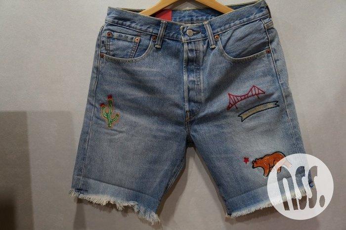 「NSS』LEVI'S LEVIS 501CT 23679 0003 刺繡 牛仔短褲 W29 W30 W32 W34