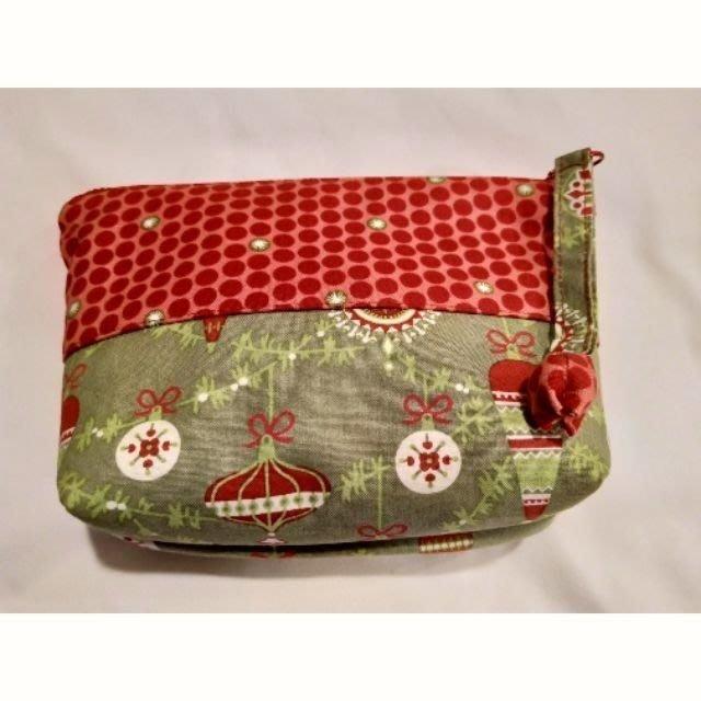 聖誕風格化妝包、萬用包 10*30*5公分