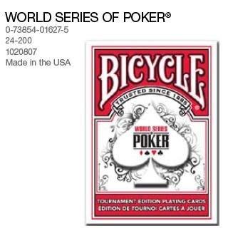 WSOP Bicycle 808 世界撲克賽聯盟訂製專用牌 一副