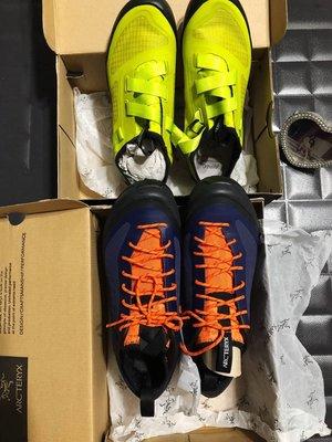 專櫃購買Arc'teryx 始祖鳥 男 ACRUX² FL GTX 短筒防水鞋 登山鞋 藍配橘帶