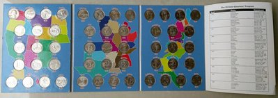1999-2008 美國 50洲 Washington 1/4 Quarters 25仙 美金 錢幣 集幣 整冊