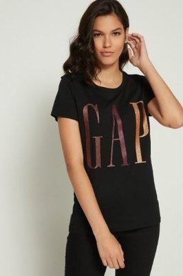 GAP 短袖T恤 女生 LOGO 黑色