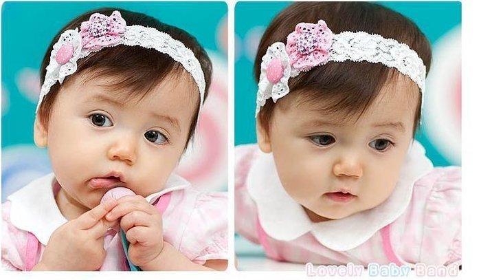 =寵喵百貨= 寶寶拍照必備 兩花兩紐扣花朵蕾絲髮帶 2花朵蕾絲髮帶 花朵紐扣造型髮帶 寶寶髮帶  兩朵花蕾絲嬰兒髮帶