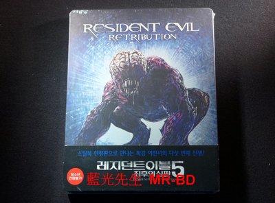 [藍光BD] - 惡靈古堡V:天譴日 Resident Evil V : Retribution 限定鐵盒B版