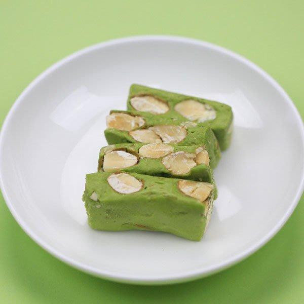 抹茶牛軋糖~使用杏仁果粒、麥芽糖 不黏牙150克 純手工 另有綜合、玫瑰、桂花、蔓越莓口味 【全健健康生活館】